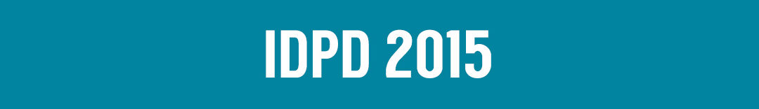 "blue background white text says ""IDPD 2015"""