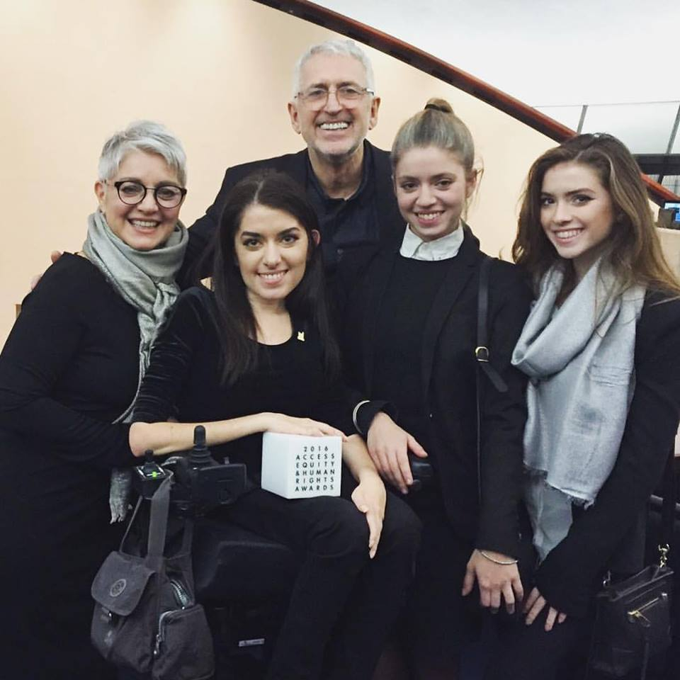 Maayan Ziv and her family