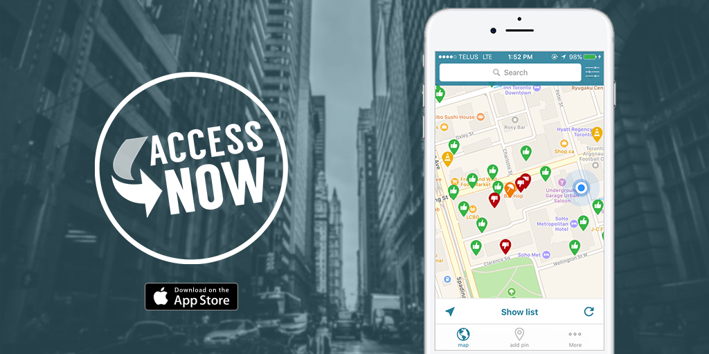 accessNow logo and mobile app