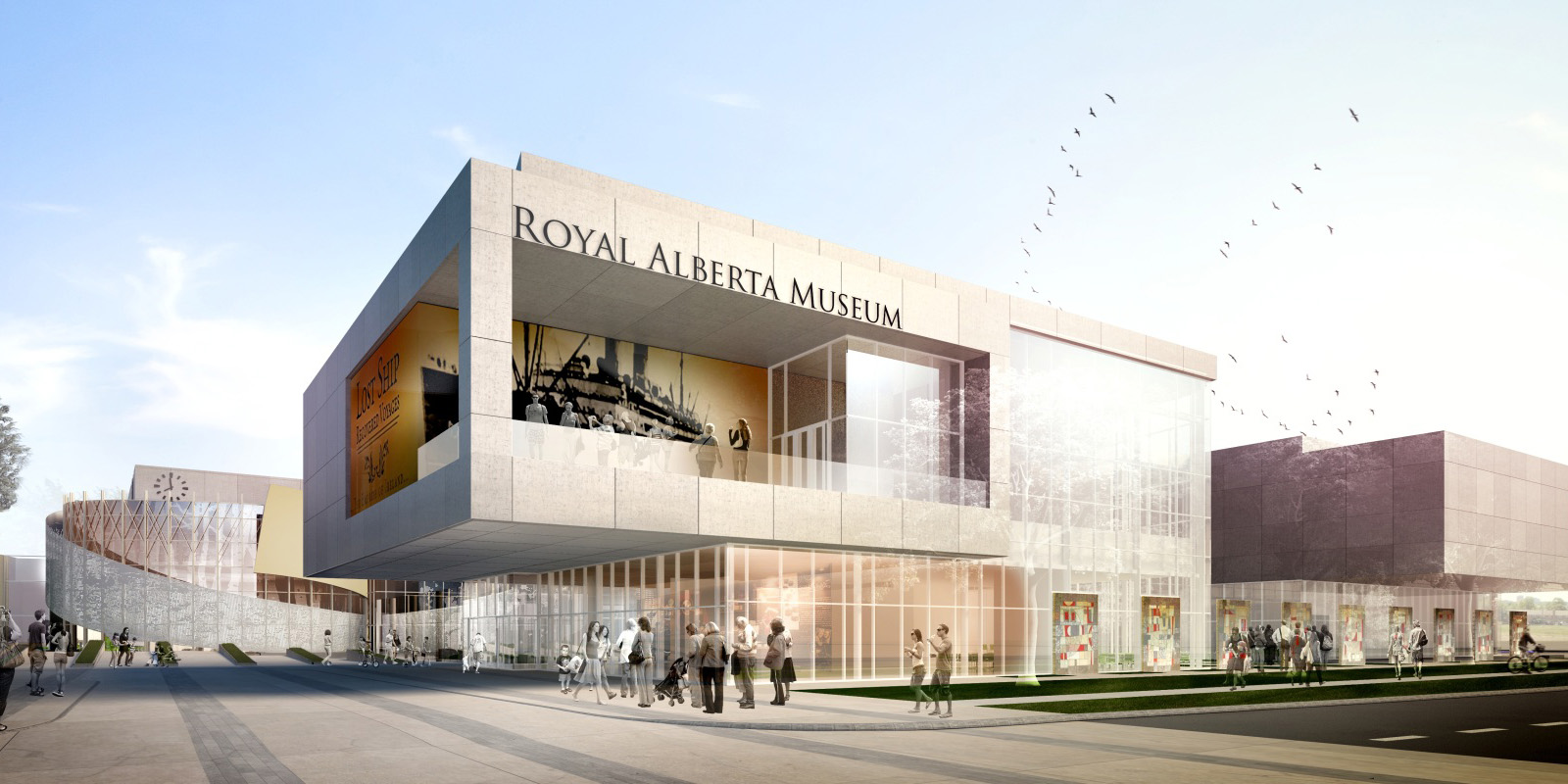 exterior view of the new royal alberta museum