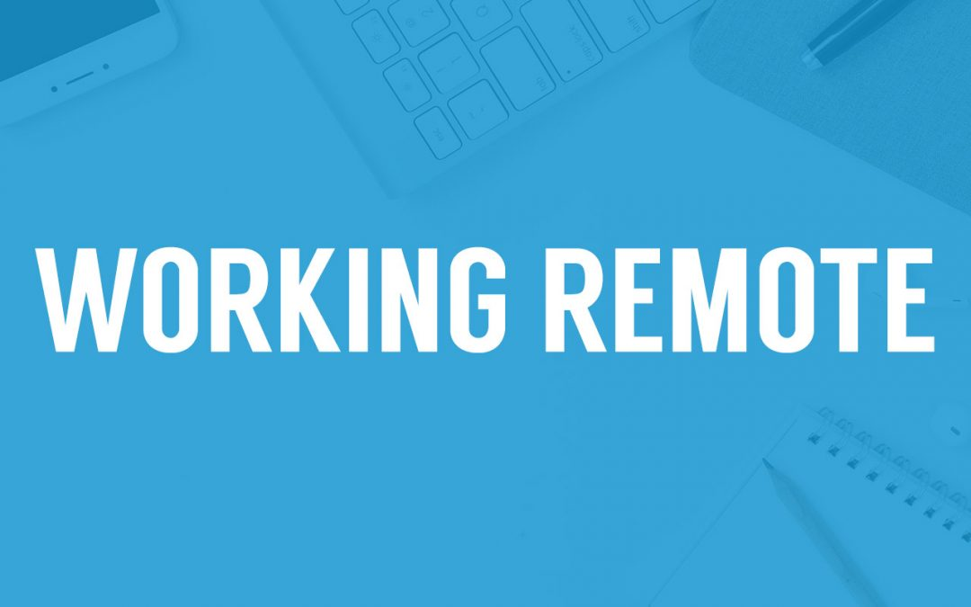 """title that says """"working remote"""""""